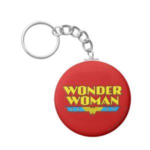 Wonder Woman Name and Logo Keychain