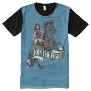 Wonder Woman on Horse Comic Art All-Over-Print Shirt