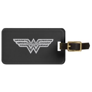 Wonder Woman Paisley Logo Bag Tag