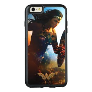 Wonder Woman Running on Battlefield OtterBox iPhone Case