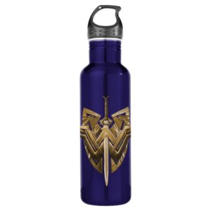 Wonder Woman Symbol With Sword of Justice Water Bottle