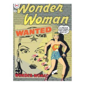 Wonder Woman Wanted Postcard