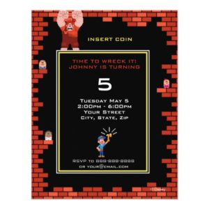 Wreck-It Ralph Birthday Invitation
