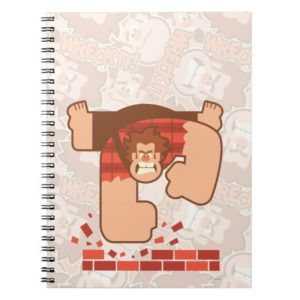Wreck it Ralph Pounding Bricks Notebook