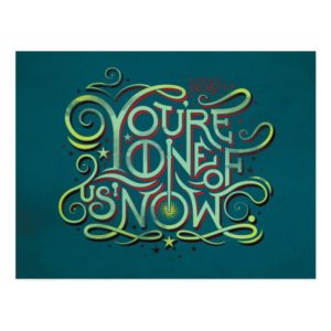 You're One Of Us Now Green Graphic Postcard
