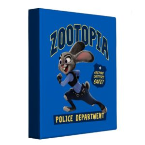 Zootopia | Judy Hopps - Keeping Critters Safe! 3 Ring Binder