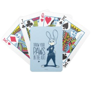 Zootopia | Judy Hopps - Paws in the Air! Bicycle Playing Cards