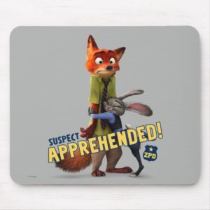 Zootopia   Judy & Nick - Suspect Apprehended! Mouse Pad