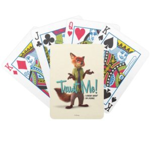 Zootopia | Nick Wilde - Trust Me! Bicycle Playing Cards