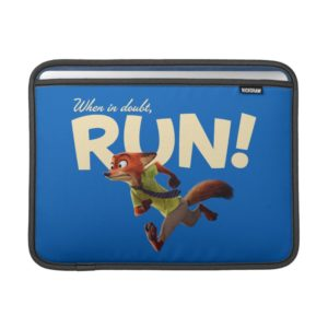 Zootopia   Nick Wilde - When in Doubt, RUN! MacBook Air Sleeve