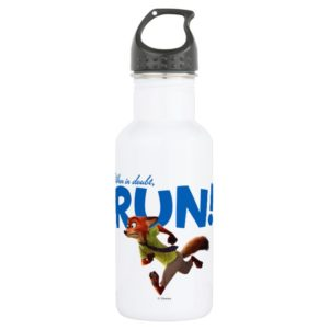 Zootopia | Nick Wilde - When in Doubt, RUN! Stainless Steel Water Bottle