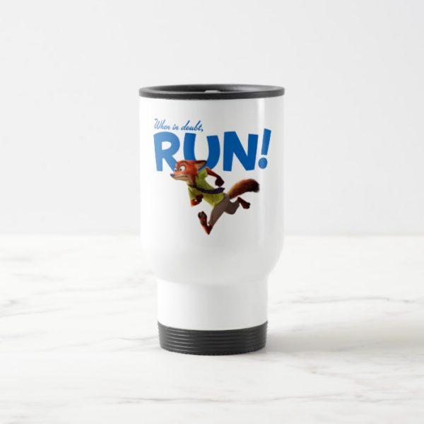 Zootopia   Nick Wilde - When in Doubt, RUN! Travel Mug