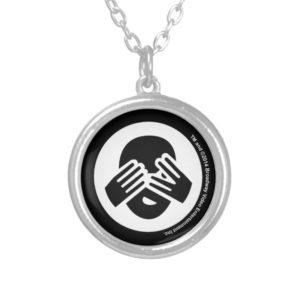 Adult Hide & Seek League Silver Plated Necklace