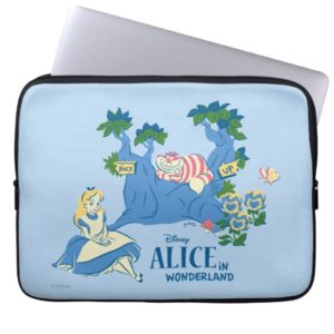 Alice and Cheshire Cat Laptop Sleeve