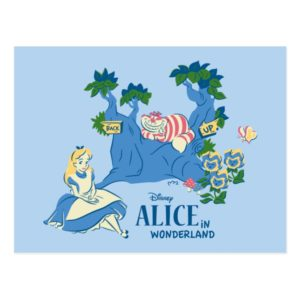 Alice and Cheshire Cat Postcard