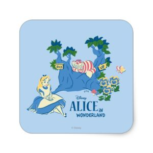 Alice and Cheshire Cat Square Sticker