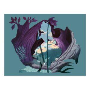 Alice Daisy Field Silhouette in Tulgey Woods Postcard