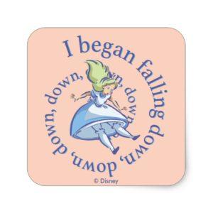 Alice | I Began Falling Down, Down, Down... Square Sticker