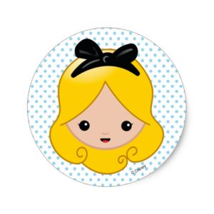 Alice in Wonderland | Alice Emoji Classic Round Sticker