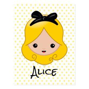 Alice in Wonderland   Alice Emoji Postcard