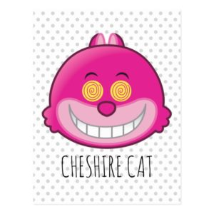 Alice in Wonderland   Cheshire Cat Emoji Postcard