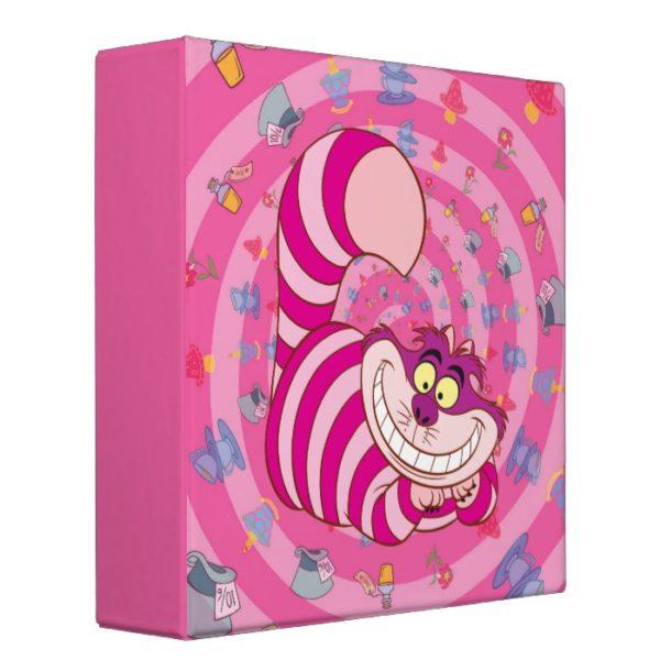 Alice in Wonderland   Cheshire Cat Smiling 3 Ring Binder