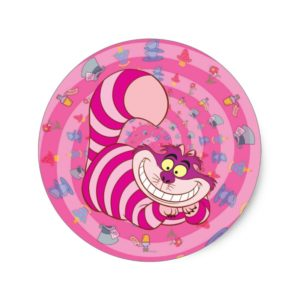 Alice in Wonderland | Cheshire Cat Smiling Classic Round Sticker