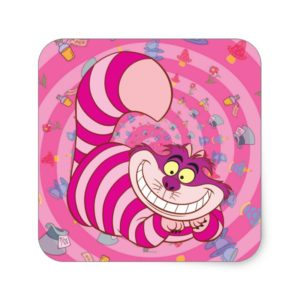 Alice in Wonderland | Cheshire Cat Smiling Square Sticker