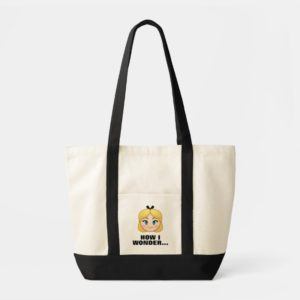 Alice In Wonderland Emoji Tote Bag