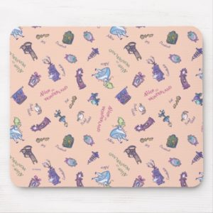Alice In Wonderland | Falling Down Pattern Mouse Pad
