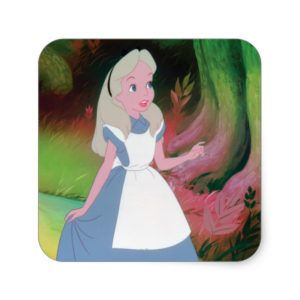Alice in Wonderland Film Still 1 Square Sticker