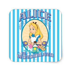 Alice in Wonderland - Frame Square Sticker