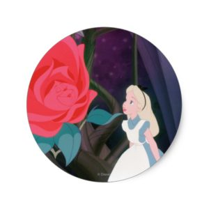 Alice in Wonderland Garden Flower Film Still Classic Round Sticker