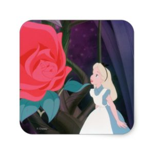 Alice in Wonderland Garden Flower Film Still Square Sticker