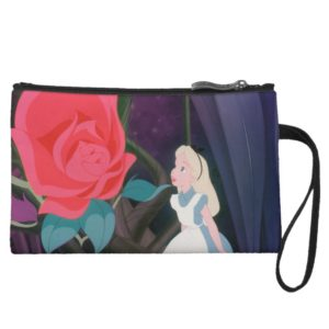 Alice in Wonderland Garden Flower Film Still Wristlet Wallet