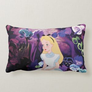 Alice in Wonderland Garden Flowers Film Still Lumbar Pillow