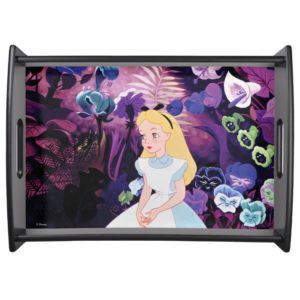 Alice in Wonderland Garden Flowers Film Still Serving Tray
