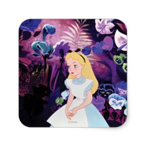 Alice in Wonderland Garden Flowers Film Still Square Sticker