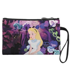 Alice in Wonderland Garden Flowers Film Still Wristlet