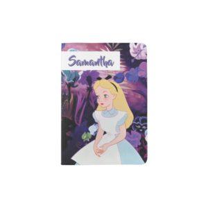 Alice in Wonderland Garden Flowers - Name Passport Holder