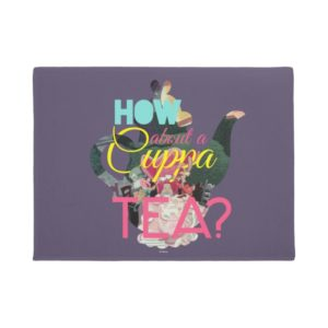 Alice In Wonderland   How About A Cuppa Tea? Doormat