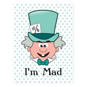 Alice in Wonderland   Mad Hatter Emoji Postcard