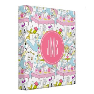 Alice in Wonderland | Oversized Pattern 3 Ring Binder