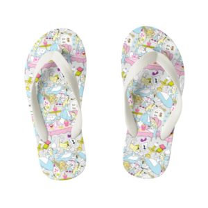 Alice in Wonderland | Oversized Pattern Kid's Flip Flops