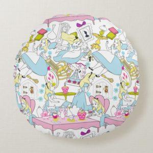 Alice in Wonderland | Oversized Pattern Round Pillow