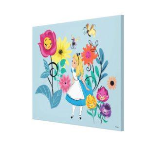 Alice in Wonderland | The Wonderland Flowers Canvas Print