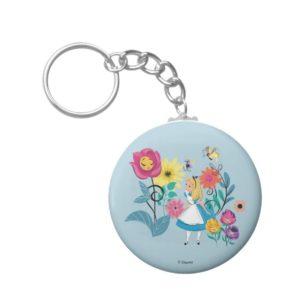 Alice in Wonderland   The Wonderland Flowers Keychain
