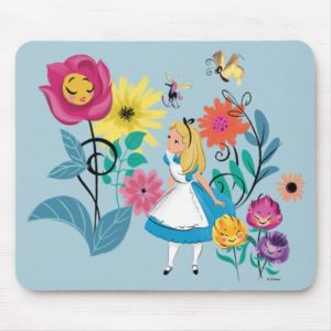 Alice in Wonderland | The Wonderland Flowers Mouse Pad