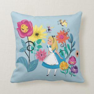 Alice in Wonderland | The Wonderland Flowers Throw Pillow