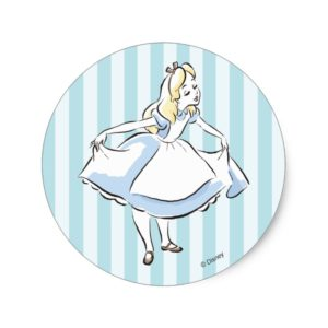 Alice in Wonderland | This Way to Wonderland Classic Round Sticker